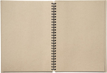 Two-page spread of a binder spiral bound note pad