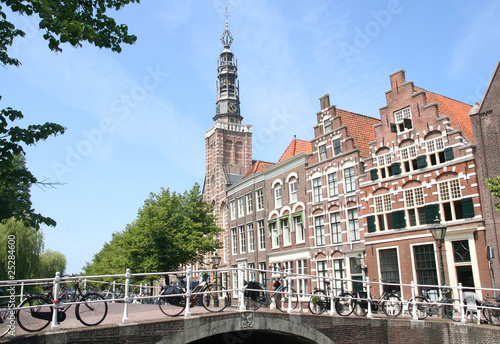 Bridge and Church Tower in Holland
