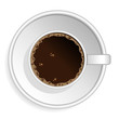 Coffee espresso cup isolated over white background
