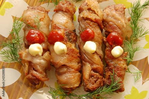 национальное украинское блюдо из мяса - крученики