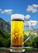 Bier vor Alpen