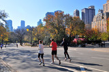 Fototapety Jogging at Central Park.