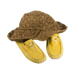 Hut und Schuhe