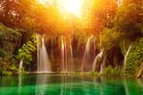 Fototapete Schönheit - Cascade - Wasserfall / Schnellen / Geysir