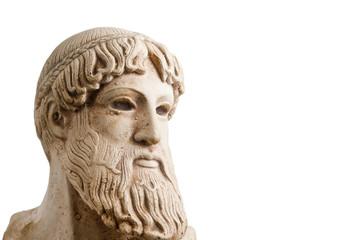 Greek god in half profile horizontal