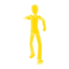 yellow person walking B