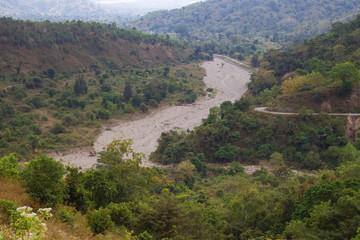 Dry river bed in Timor Leste