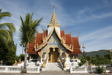 the Thai's art in temple at northern of Thailand