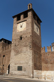 tower by castelvecchio bridge in Verona