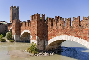 old bridge in Castevecchio Verona