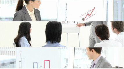 montage of business presentations