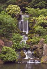 japanese garden waterfall at portland