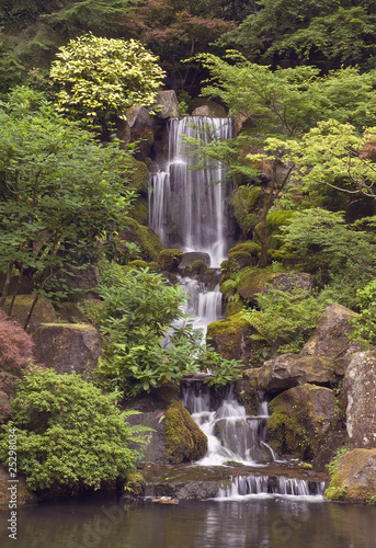 japanese garden waterfall at portland