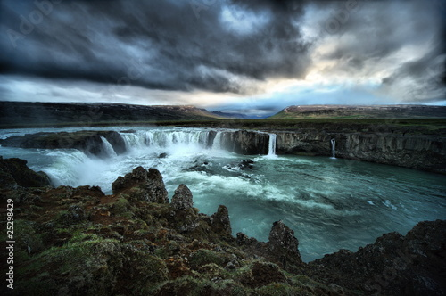 HDR view of Godafoss Falls