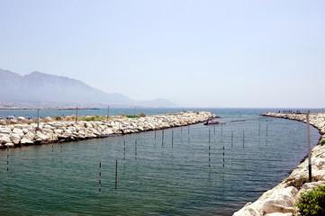 Blick vom Plage de David zum Mittelmeer mit den Calanques