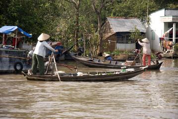 Vietnamese floating market