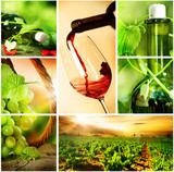 Wine.Beautiful Grapes Collage - 25303625
