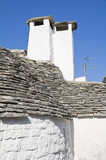Close up of a Trullo Chimney-pots. Alberobello. Apulia.