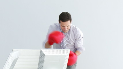 businessman boxing  concept