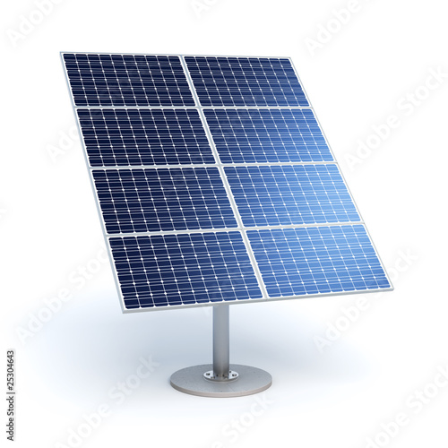 Solar module with eight panels