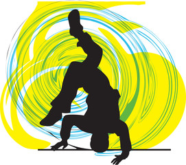 breakdancer illustration