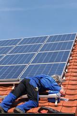 Checking the solar moduls