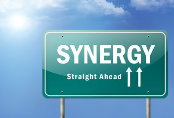 "Highway Sign ""Synergy"""