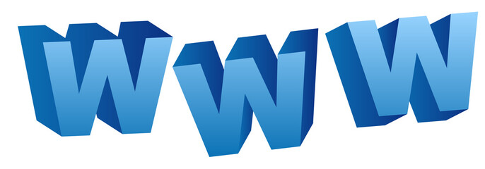 world wide web 3D Grafik