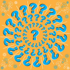 Whirling Questions (motion illusion)