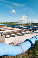 Group of big sedimentation drainages. Water recycling