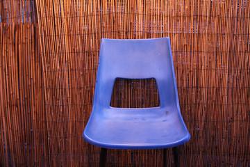 Blauer Stuhl