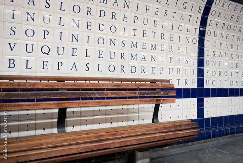 Wall in Metro Paris