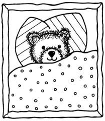 Bär im Bett