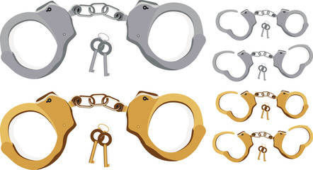 Handcuffs! (locked, half closed and open)
