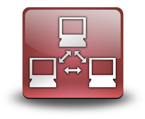 "Red 3D Effect Icon ""Network"""
