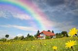 Fototapety Haus am Ende des Regenbogens
