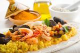 Fototapety fish paella - paella di pesce