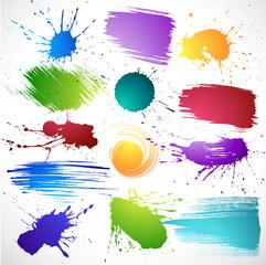 Colour paints.Grungy