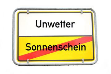 Unwetter Schild © Matthias Buehner