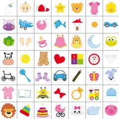 iconos infantiles en color