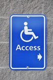 Disable access sign on wall