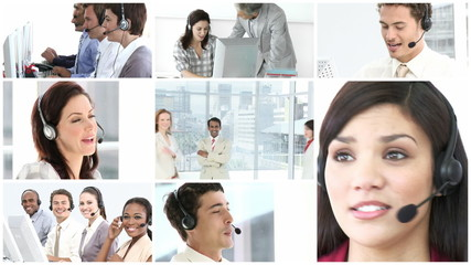 hd footage of a call center