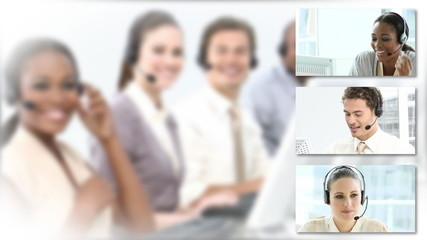 presentation of people in call center