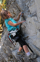 child climbing - via ferrata