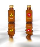 poison remède secours danger dangereux flacon fiole chimie acid poster