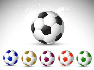 Vector illustration is a abstract football