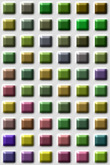 Illustration farbige Fliesen/Kacheln