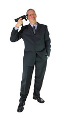 Geschäftsmann ist bankrott und denkt an Selbstmord