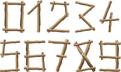 Numeri di Legno-Wood Numbers-Vector