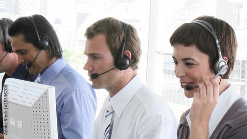 team in a call-center
